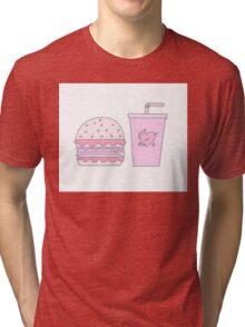 Pink Burger and Drink Tri-blend T-Shirt