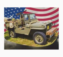 Willys World War Two Jeep And American Flag Kids Clothes