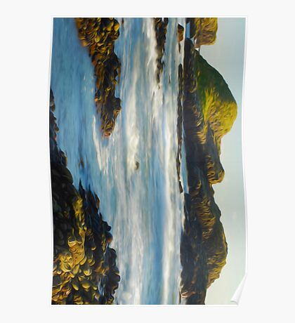 Boiling sea Painting Poster