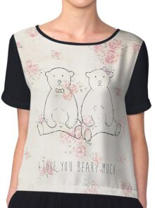 I love you beary much Chiffon Top