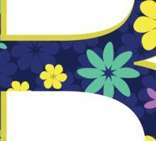 Flower Letter B Sticker