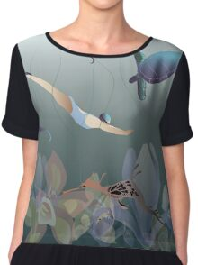 I love to swim Chiffon Top