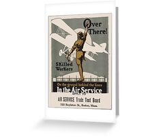 Vintage poster - Air Service Trade Test Board Greeting Card