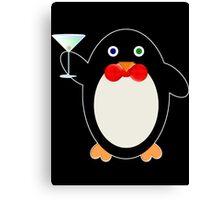 Happy Hour Penguin Canvas Print