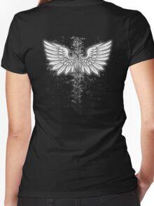 Winged backbone Women's Fitted V-Neck T-Shirt