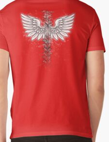 Winged backbone Mens V-Neck T-Shirt