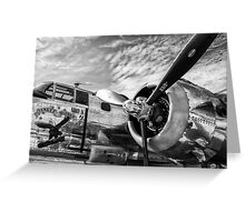 B-25 Mitchell Bomber (WWII) Yankee Warrior Greeting Card