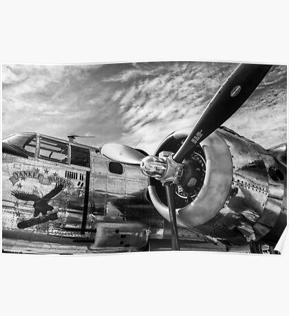 B-25 Mitchell Bomber (WWII) Yankee Warrior Poster