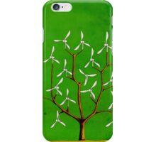 Wind turbine blades on a tree iPhone Case/Skin