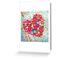 Love Buttons Greeting Card