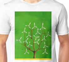 Wind turbine blades on a tree Unisex T-Shirt