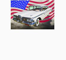 1959 Edsel Ford Ranger With American Flag Unisex T-Shirt