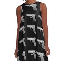 Handgun under x-ray  A-Line Dress