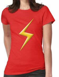 Yellow Lightning Bolt  Womens Fitted T-Shirt