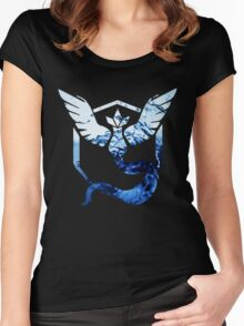 Team Mystic Pokemon Go Elements Women's Fitted Scoop T-Shirt