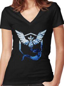 Team Mystic Pokemon Go Elements Women's Fitted V-Neck T-Shirt