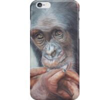 Pondering Chimp iPhone Case/Skin