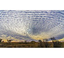 Amazing clouds at Kings Creek Station, NT Photographic Print