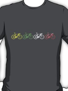 Bike Stripes Tour de France Jerseys v2 T-Shirt