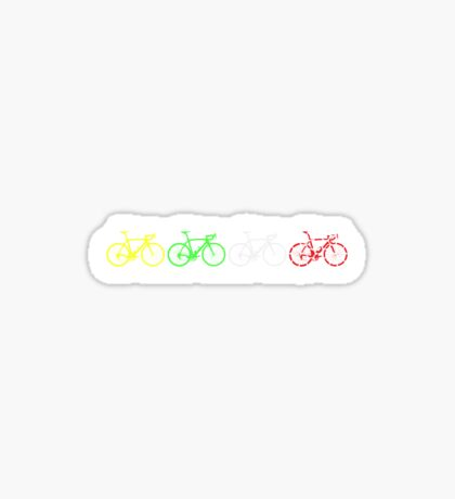 Bike Stripes Tour de France Jerseys v2 Sticker