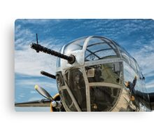 B-25 Mitchell Bomber (WWII) Yankee Warrior (Nose gun) Canvas Print