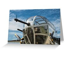 B-25 Mitchell Bomber (WWII) Yankee Warrior (Nose gun) Greeting Card