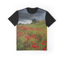 Storm over Poppy Ridge Graphic T-Shirt