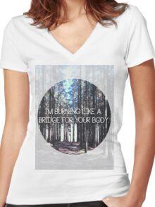 Brand New Lyric Women's Fitted V-Neck T-Shirt