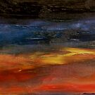 Sunset reflecting on the Ocean surface by George Hunter