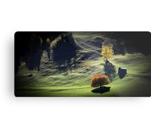 Majestic sunset in the mountains landscape Metal Print
