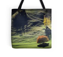 Majestic sunset in the mountains landscape Tote Bag