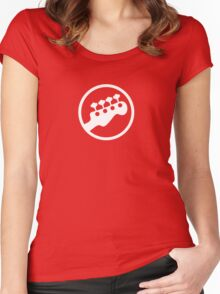 Rock Band Instrument Symbol - Bass Women's Fitted Scoop T-Shirt