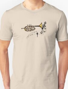 Trumpet Simple Sketch 2 Unisex T-Shirt