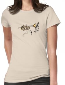 Trumpet Simple Sketch 2 Womens Fitted T-Shirt