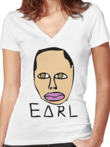 Earl Odd Future Wolf Gang Women's Fitted V-Neck T-Shirt