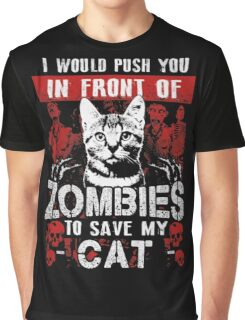 ZOMBIES CAT Graphic T-Shirt