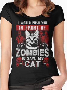 ZOMBIES CAT Women's Fitted Scoop T-Shirt