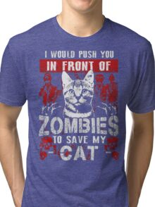 ZOMBIES CAT Tri-blend T-Shirt