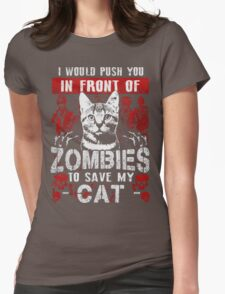 ZOMBIES CAT Womens Fitted T-Shirt