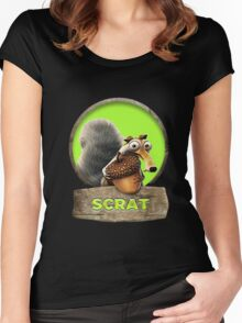 Ice Age Collision Course Scrat Women's Fitted Scoop T-Shirt