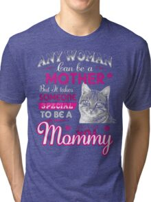 CAT MOMMY Tri-blend T-Shirt