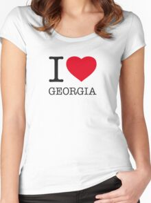 I ♥ GEORGIA Women's Fitted Scoop T-Shirt