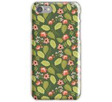 Lush Garden Floral Pattern iPhone Case/Skin