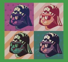 Darth Kitty Pop - Pastel Kids Tee