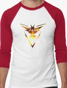 Team Instinct Pokemon Go Elements Men's Baseball ¾ T-Shirt