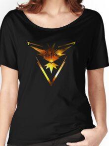 Team Instinct Pokemon Go Elements Women's Relaxed Fit T-Shirt