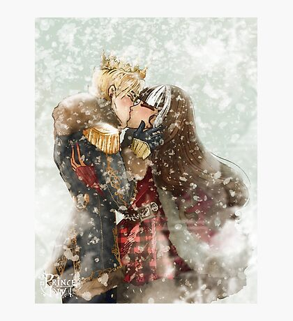 snow kiss Photographic Print