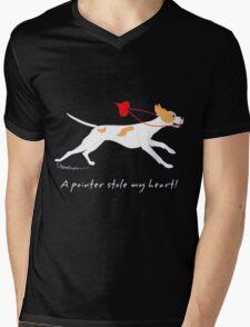 DOG A POINTER STOLE MY HEART  Mens V-Neck T-Shirt
