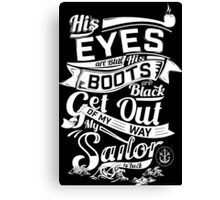MY SAILOR IS BACK Canvas Print