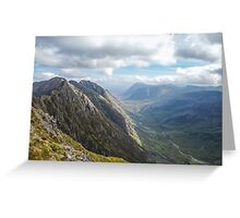 mountains landscape Greeting Card